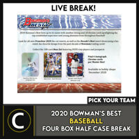 2020 BOWMAN'S BEST BASEBALL 4 BOX (HALF CASE) BREAK #A1022 - PICK YOUR TEAM