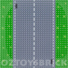BASE PLATE CITY ROAD STRAIGHT PLATE - 32X32 STUDS BASEPLATE LEGO COMPATIBLE