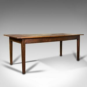 Antique Farmhouse Table, English, Pine, Country Kitchen, Dining, Victorian, 1900