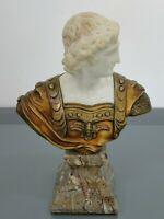 Büste,Gladiator,Eugène Barillot,Frankreich,Bronze,Alabaster,Marmor,Gießereimarke