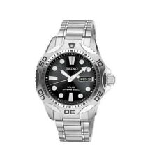 Seiko SNE107 Solar Scuba Divers Sports Stainless Steel Mens Watch 200M WR