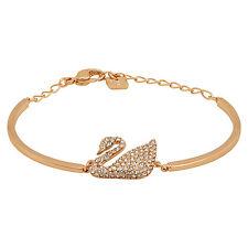 Swarovski Rose Gold-Plated Swan Bangle