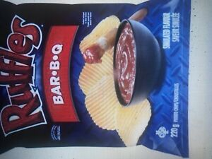 6 Bags Ruffles BBQ Chips Size 200g From Canada - FRESH & DELICIOUS!