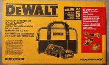 DeWalt DCB205CK 20V MAX 5.0Ah Lithium-Ion Battery and Charger Kit with Bag - NEW
