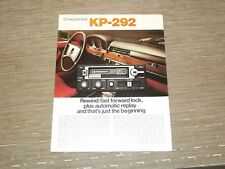 Pioneer KP-292 Car Stereo Cassette tape Original Catalogue