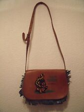 RARE SACOCHE / DISPATCH CASE BAG DAVY CROCKETT WALT DISNEY CUIR / LEATHER TOP !