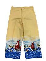 Lavie Boheme Women's Size 10 Sailboat Print Cropped Pants