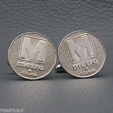 Washington DC Metro 1982 Subway Token Cufflinks, Rapid Transit Capitol City