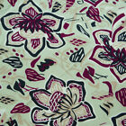 Sewing Handmade Fabric Floral Pattern Green Cotton Dress Pillow Curtain By Meter