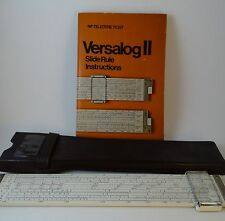 "Teledyne Post 10"" Versalog II Slide Rule 44CA-600, Case and Instruction Book"