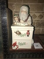 Vintage Lenox Santa's Holiday Toy Shop Cookie Jar Lot 118