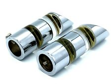 Finials For Curtain Poles 13 - 16mm Pole Polished Chrome With Glass Ends (235)