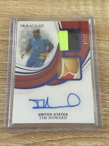 2018-19 Panini Immaculate Soccer Tim Howard Sick Patch Auto 07/15