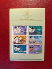 BRITISH VIRGIN ISLANDS BVI MNH 1985 COINAGE MINISHEET TURTLE BARRACUDA DOLPHIN
