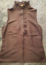 Pure Silk Tory Burch Sleeveless Blouse UK12