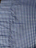 Pottery Barn Kids Blue White Gingham Check Valance Curtain 18x50