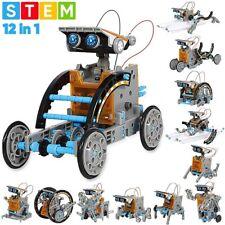 Solar Robot Kit 12 In 1 Educational STEM Toys Powered Building Kites DIY Science
