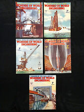 5 VINTAGE 1937 WONDERS OF WORLD ENGINEERING, PARTS; 6/7/8/9/10.