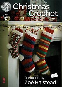 King Cole Christmas Crochet Book 1 - see pics