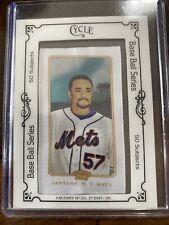 2010 Topps Cycle Baseball Series Mets Johan Santana #47/50 Single Card. Mint