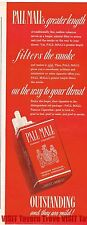Pall Mall Non Filtered Greater Length Mild Cigarettes 14x4 Paper Ad Tavern Trove