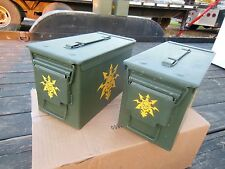 2..MILITARY SURPLUS . 50 CAL AMMO CANS TOOL BOX HUNTING SKULLS TENT STAKES ARMY