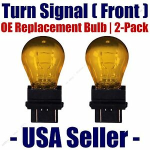 Front Turn Signal Light Bulb 2pk Fits Listed Nissan Vehicles 3457NA/3357NA