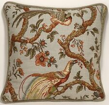 "1 18""  Waverly Olana Bay Leaf Pheasant Bird Floral Designer Throw Pillow"