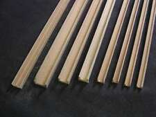 """Groove Edge Molding 1/8"""" - dollhouse - Channel molding fits .125"""" 2pc Basswood"""