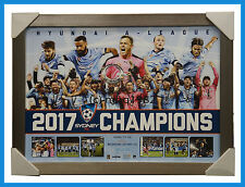 Sydney FC 2017 A-League Champions Official Deluxe Sportsprint Framed - IN STOCK