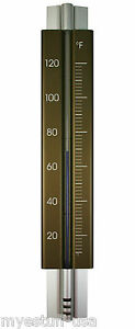 Wall Thermometer Aluminum Bronze 11.75 in.