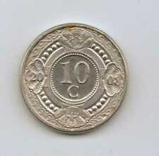NETHERLANDS ANTILLES - 10 Cents - Beatrix 2008 Nickel bonded Steel • 3g • ⌀ 18mm