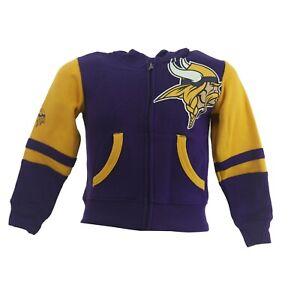 Minnesota Vikings Official NFL Baby Infant Toddler Size Full Zip Sweatshirt New