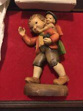 "Anri ""He's Not Heavy, He's My Brother"" 6"" Hand Carved Wood Figurine, Ferrandiz"