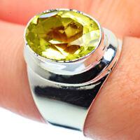 Lemon Quartz 925 Sterling Silver Ring Size 8.5 Ana Co Jewelry R38581F