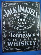 VINTAGE STYLE JACK DANIELS NO.7 WHISKEY METAL TIN SIGN Wood Grain bottle whisky