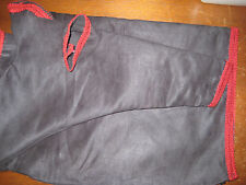 GHB Black Microsuede red trim Dycem non slip patch many sizes