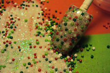 glitter mix acrylic gel nail art   crafts  CHRISTMAS MIX      SUGAR COOKIES