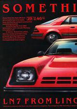 1982 Mercury LN7 6-sided -  Classic Vintage Advertisement Ad H99