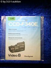 Sony Bedienungsanleitung CCD F340E Video 8 Camera Recorder (#0140)