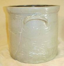 Vintage Antique Stoneware Decorated Blue Bee Crock