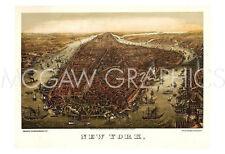 WARP MAPS - NEW YORK, 1873