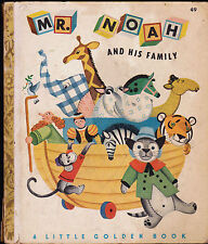 Mr Noah and His Family Little Golden Book 3rd print Jane Werner