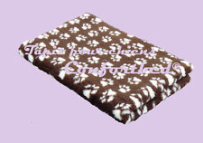 Tapis Confortbed Vetbed Dry chocolat pattes beiges 100x150 cm 26 mm