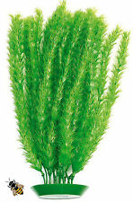 Aquarium Ornament Feather Fern Plant Fish Tank Plastic Large Decoration New