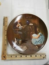 The Storyteller 8th Norman Rockwell Plate Heritage Series Grandfather Girl 1994