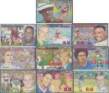 Südafrika 1328A-1337A (kompl.Ausg.) FDC 2001 Bekannte Sportler
