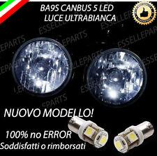 COPPIA LUCI POSIZIONE BA9S A 5 LED TRIUMPH STREET TRIPLE CANBUS NO ERROR