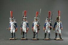 Toy tin soldiers 54 mm.The Napoleonic wars. Set of 5 pieces.