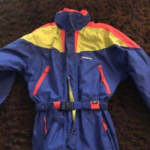 BERGHAUS Vintage Ski Suit Size 38 Uk Rainbow Colour Gore Tex